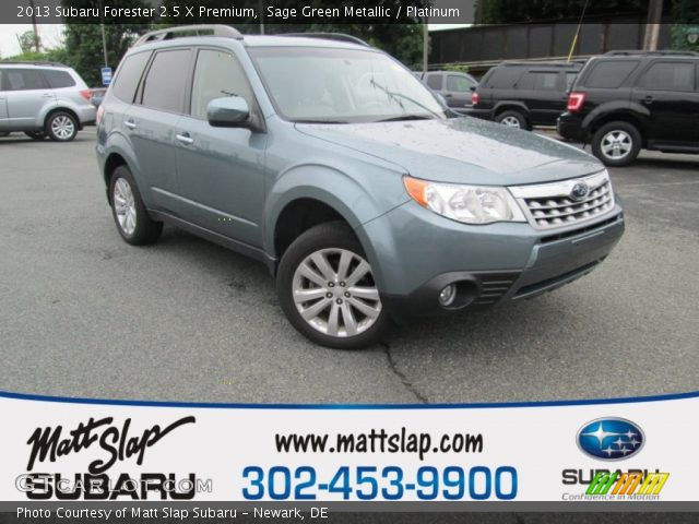 sage green metallic 2013 subaru forester 2 5 x premium platinum interior. Black Bedroom Furniture Sets. Home Design Ideas