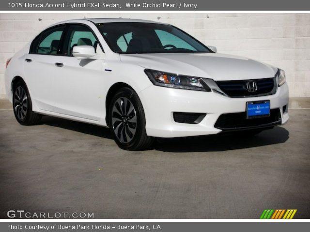 2015 Honda Accord Hybrid EX-L Sedan in White Orchid Pearl