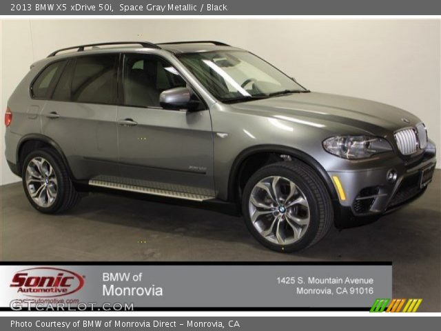 space gray metallic 2013 bmw x5 xdrive 50i black interior vehicle archive. Black Bedroom Furniture Sets. Home Design Ideas