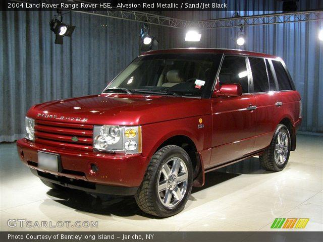 Alveston Red Metallic 2004 Land Rover Range Rover Hse Sand Jet Black Interior