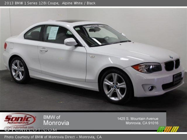 2013 BMW 1 Series 128i Coupe in Alpine White