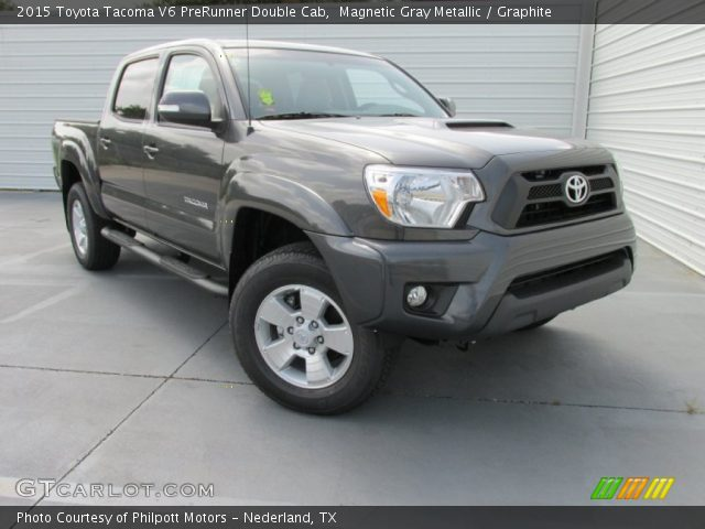 magnetic gray metallic 2015 toyota tacoma v6 prerunner double cab graphite interior. Black Bedroom Furniture Sets. Home Design Ideas