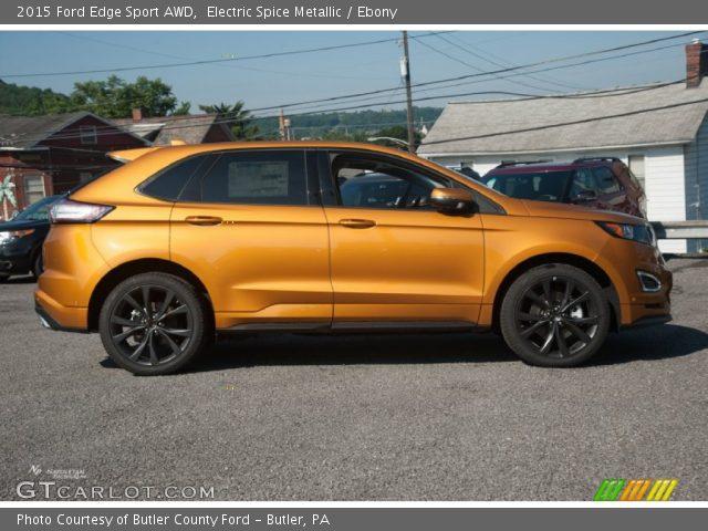 electric spice metallic 2015 ford edge sport awd ebony interior vehicle. Black Bedroom Furniture Sets. Home Design Ideas