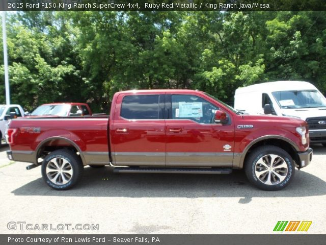 2015 Ford F150 King Ranch SuperCrew 4x4 in Ruby Red Metallic