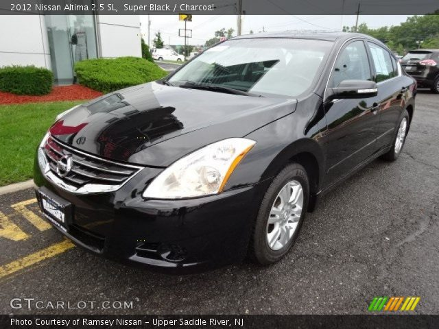super black 2012 nissan altima 2 5 sl charcoal interior vehicle archive. Black Bedroom Furniture Sets. Home Design Ideas