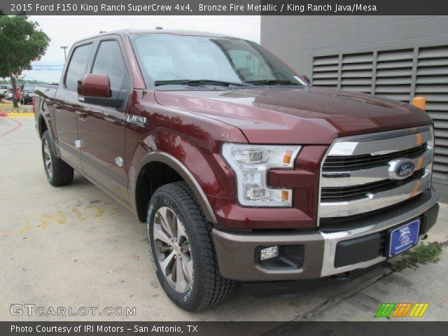 bronze fire metallic 2015 ford f150 king ranch supercrew 4x4 king ranch java mesa interior. Black Bedroom Furniture Sets. Home Design Ideas