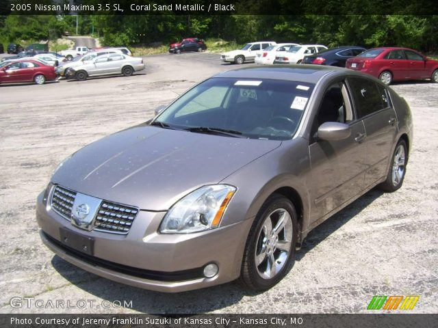 coral sand metallic 2005 nissan maxima 3 5 sl black. Black Bedroom Furniture Sets. Home Design Ideas