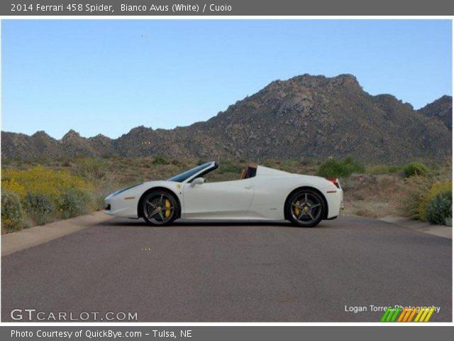 2014 Ferrari 458 Spider in Bianco Avus (White)