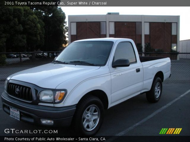 super white 2001 toyota tacoma regular cab charcoal interior vehicle. Black Bedroom Furniture Sets. Home Design Ideas
