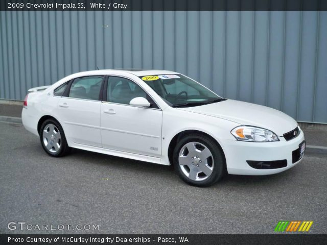 white 2009 chevrolet impala ss gray interior. Black Bedroom Furniture Sets. Home Design Ideas