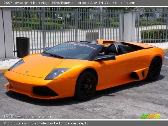 2007 Lamborghini Murcielago LP640 Roadster in Arancio Atlas Tri-Coat
