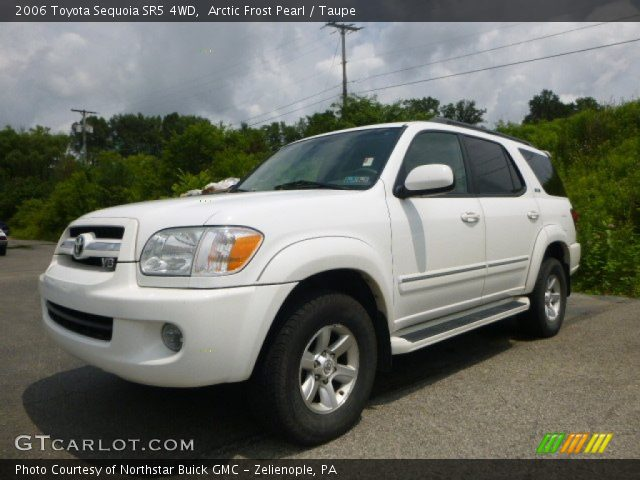 arctic frost pearl 2006 toyota sequoia sr5 4wd taupe interior vehicle. Black Bedroom Furniture Sets. Home Design Ideas