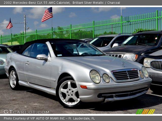 2002 Mercedes-Benz CLK 55 AMG Cabriolet in Brilliant Silver Metallic