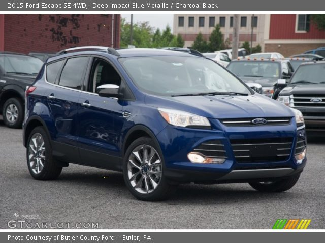 deep impact blue metallic 2015 ford escape se 4wd charcoal black interior. Black Bedroom Furniture Sets. Home Design Ideas