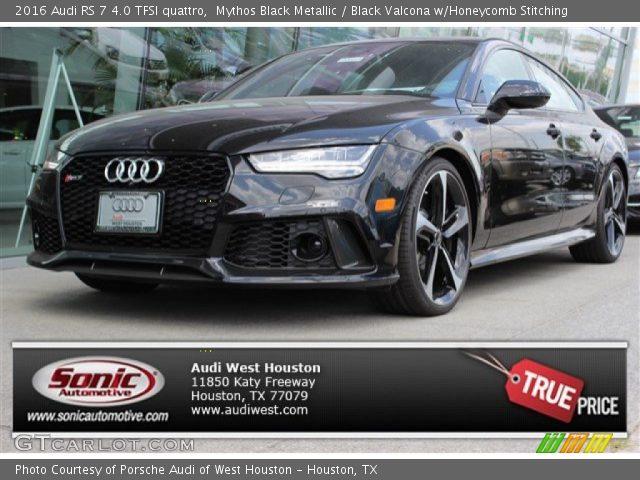 2016 Audi RS 7 4.0 TFSI quattro in Mythos Black Metallic