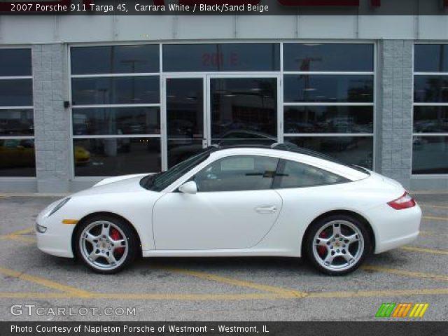 Carrara White - 2007 Porsche 911 Targa 4S - Black/Sand