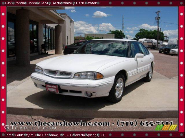 1999 Pontiac Bonneville SE in Arctic White