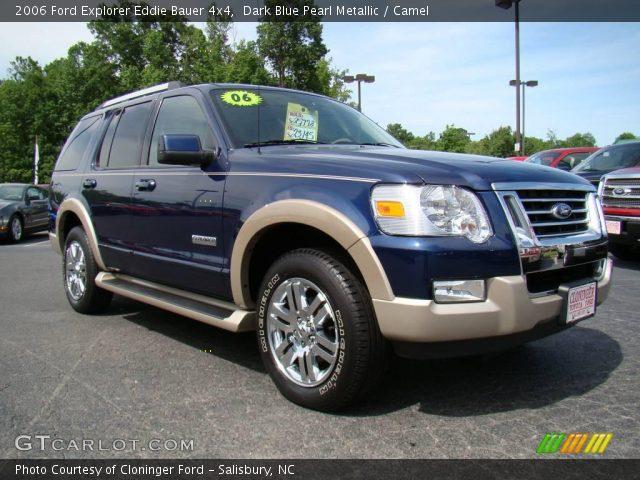 Dark Blue Pearl Metallic 2006 Ford Explorer Eddie Bauer 4x4 Camel Interior