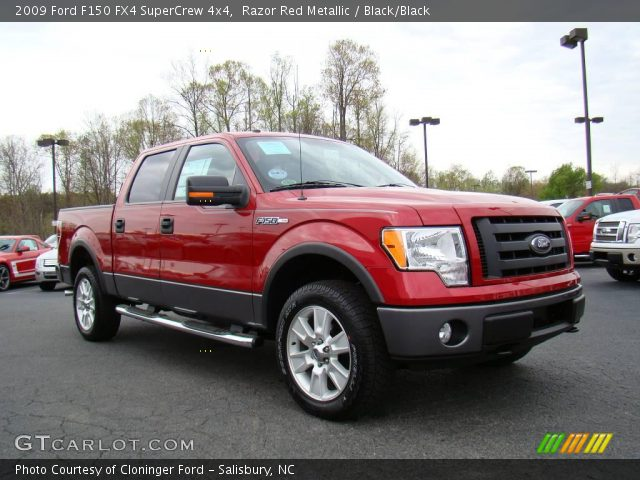 razor red metallic 2009 ford f150 fx4 supercrew 4x4. Black Bedroom Furniture Sets. Home Design Ideas