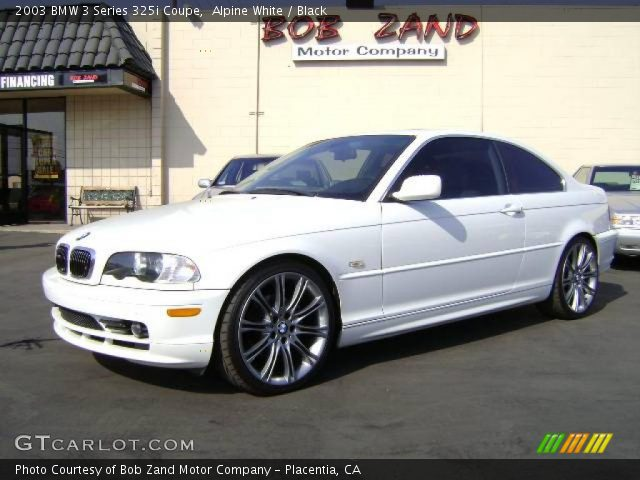 alpine white 2003 bmw 3 series 325i coupe black interior vehicle archive. Black Bedroom Furniture Sets. Home Design Ideas