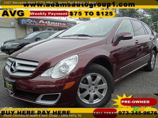 2007 Mercedes-Benz R 350 4Matic in Barolo Red Metallic