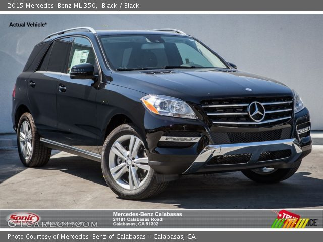 2015 Mercedes-Benz ML 350 in Black