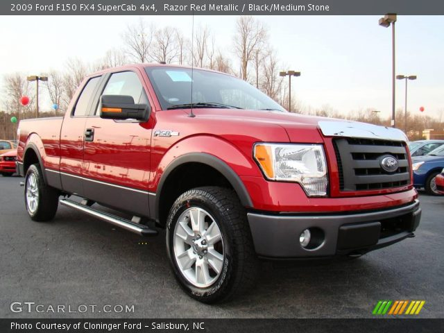 razor red metallic 2009 ford f150 fx4 supercab 4x4. Black Bedroom Furniture Sets. Home Design Ideas