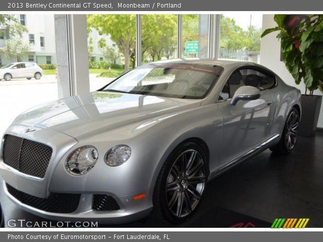 Moonbeam 2013 Bentley Continental Gt Speed Portland Interior