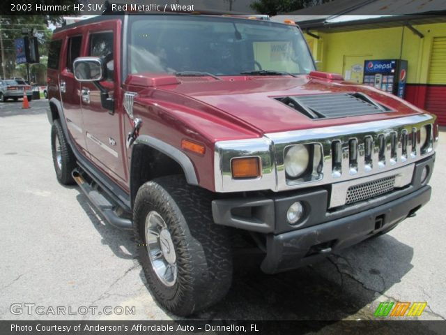 2003 Hummer H2 SUV in Red Metallic