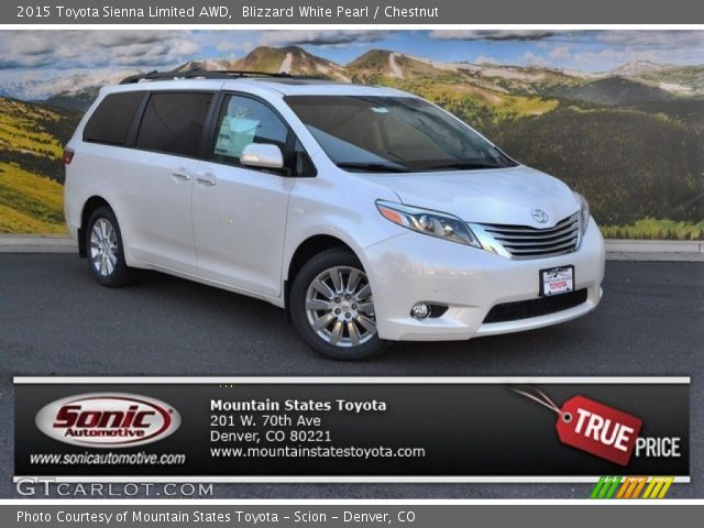 blizzard white pearl 2015 toyota sienna limited awd. Black Bedroom Furniture Sets. Home Design Ideas