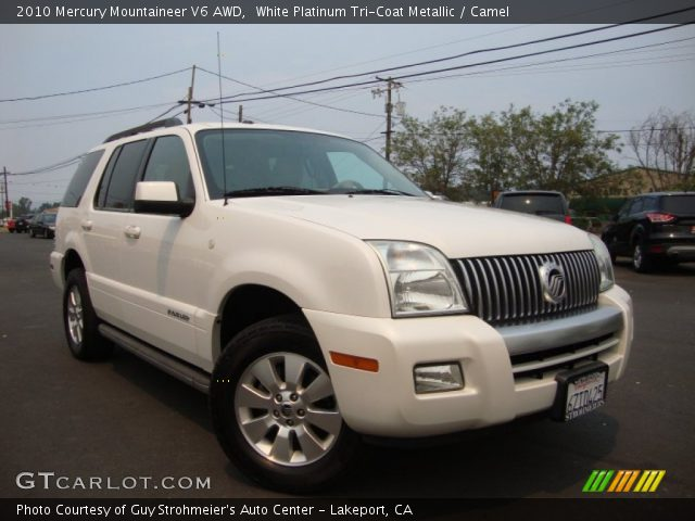 2010 Mercury Mountaineer V6 AWD in White Platinum Tri-Coat Metallic