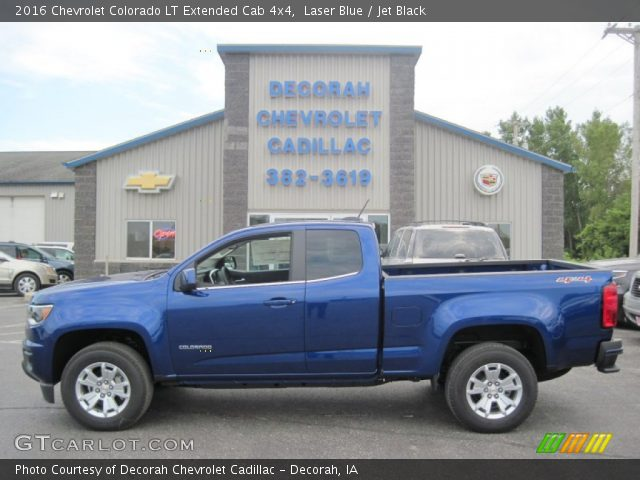 laser blue 2016 chevrolet colorado lt extended cab 4x4 jet black interior. Black Bedroom Furniture Sets. Home Design Ideas