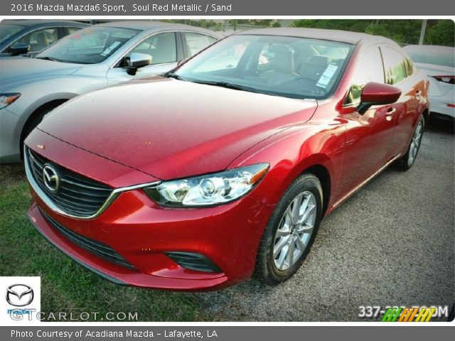 soul red metallic 2016 mazda mazda6 sport sand interior vehicle archive. Black Bedroom Furniture Sets. Home Design Ideas