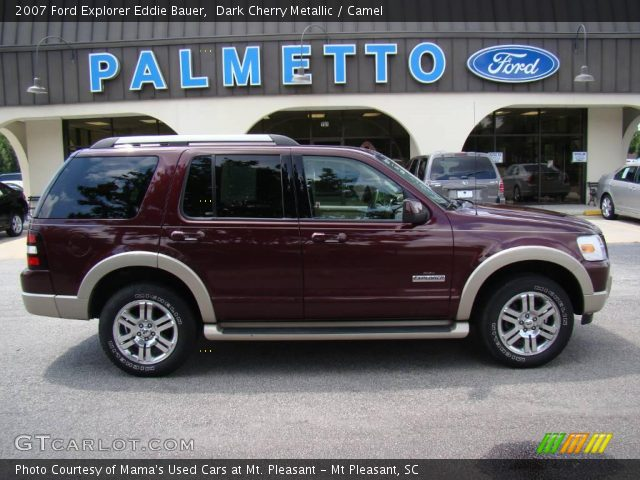 dark cherry metallic 2007 ford explorer eddie bauer camel interior vehicle. Black Bedroom Furniture Sets. Home Design Ideas