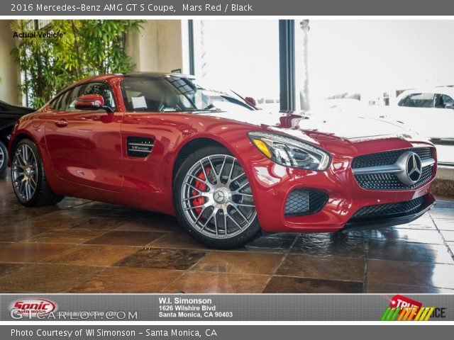 2016 Mercedes-Benz AMG GT S Coupe in Mars Red