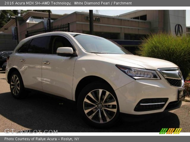 white diamond pearl 2016 acura mdx sh awd technology. Black Bedroom Furniture Sets. Home Design Ideas