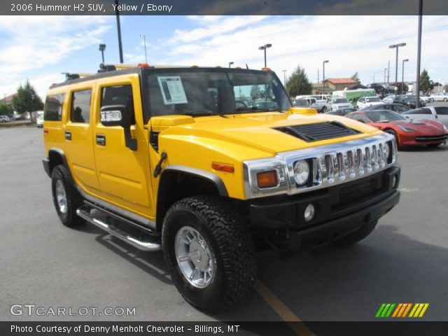 2006 Hummer H2 SUV in Yellow