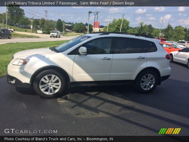 2008 Subaru Tribeca Limited 7 Passenger in Satin White Pearl