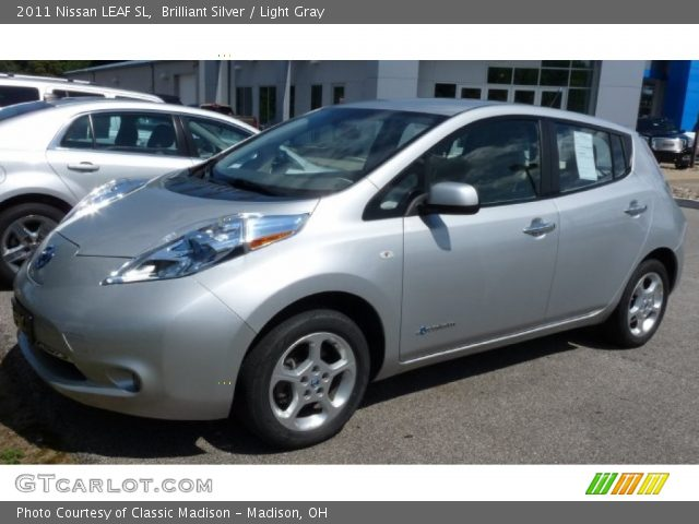 Brilliant Silver 2011 Nissan Leaf Sl Light Gray Interior