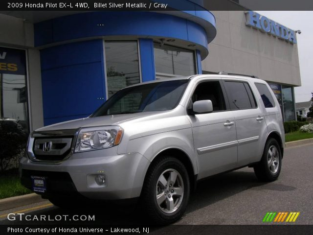 Billet Silver Metallic 2009 Honda Pilot Ex L 4wd Gray Interior Vehicle