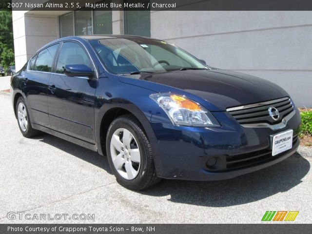 Majestic Blue Metallic 2007 Nissan Altima 2 5 S Charcoal Interior Vehicle