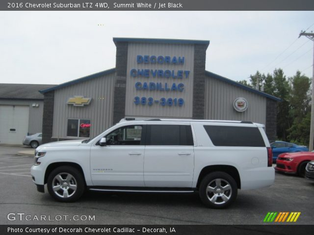 Summit White 2016 Chevrolet Suburban Ltz 4wd Jet Black