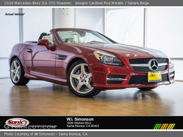 2016 Mercedes-Benz SLK 350 Roadster in designo Cardinal Red Metallic