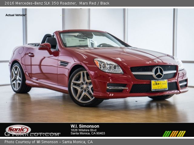 2016 Mercedes-Benz SLK 350 Roadster in Mars Red