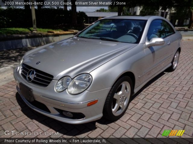 2003 Mercedes-Benz CLK 500 Coupe in Brilliant Silver Metallic