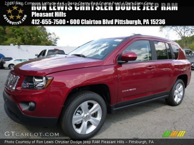 2016 Jeep Compass Latitude 4x4 in Deep Cherry Red Crystal Pearl