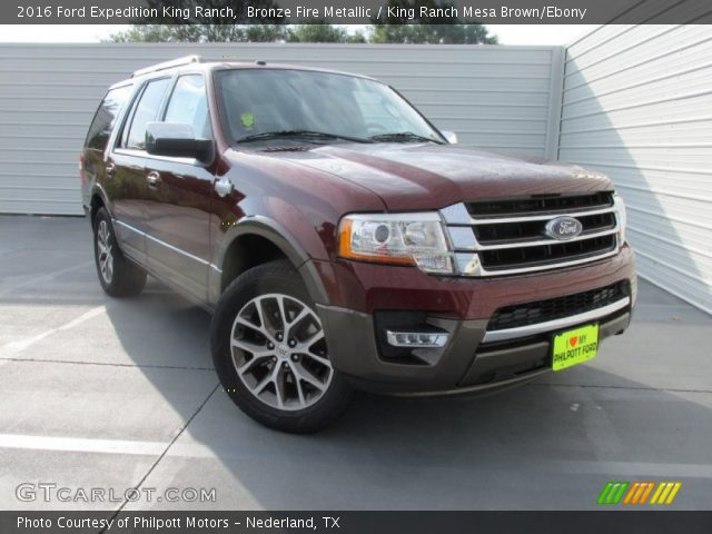 bronze fire metallic 2016 ford expedition king ranch king ranch mesa brown ebony interior. Black Bedroom Furniture Sets. Home Design Ideas