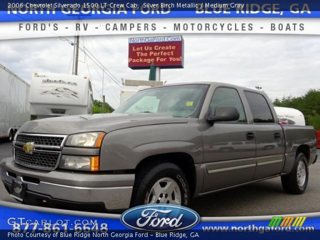 2006 Chevrolet Silverado 1500 LT Crew Cab in Silver Birch Metallic