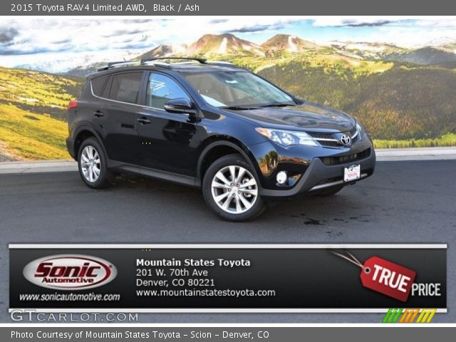 black 2015 toyota rav4 limited awd ash interior vehicle archive 107077325. Black Bedroom Furniture Sets. Home Design Ideas