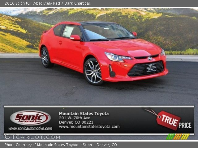 2016 Scion tC  in Absolutely Red